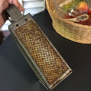 Vintage Rectangle Grater Rusty Farmhouse Kitchen